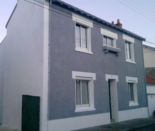 21/12/2012 peinture acrylique hydrofuge étanchéité facade gris 1000 teintes nantes doulon entreprise david renovation tous droits réservés