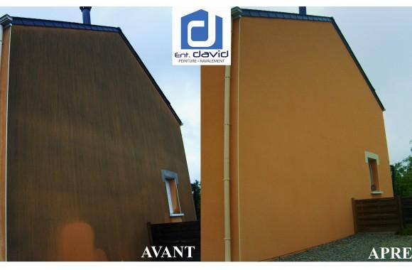 avant après facade orange