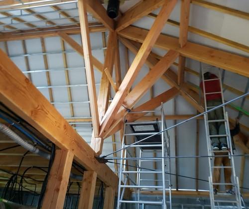 entreprise david renovation immobiliere coueron sautron le pellerin nantes centre placo peinture decoration echafaudage blanc plafond bandes