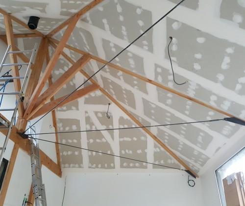 entreprise david renovation immobiliere coueron sautron le pellerin nantes centre placo peinture decoration echafaudage blanc haut plafond bandes