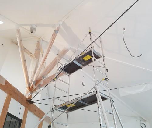 entreprise david renovation immobiliere coueron sautron le pellerin nantes centre placo peinture decoration echafaudage blanc plafond bandes 01 2017