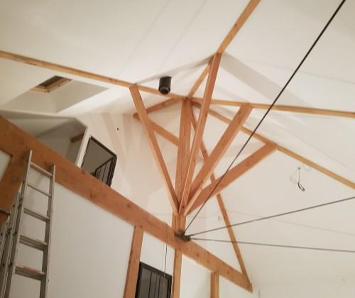 10/01/2017 peinture interieure plafond blanc poutre la montagne peinture acrylique entreprise david renovation immobiliere tous droits réservés