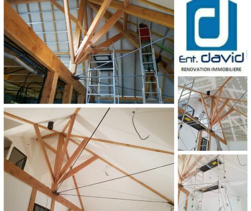 entreprise david renovation immobiliere coueron sautron le pellerin nantes centre placo peinture decoration echafaudage blanc plafond bandes interieur01 2017