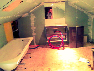 Aménagement sdb, plomberie, placo, isolation