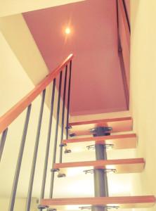 escalier gain de place, trémie