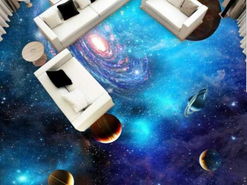 Paysage sol decoration 3D planetes