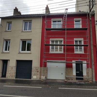 coueron peinture ravalement nantes chalatres entreprise david cassis rouge rénovation immobiliere echafaudage