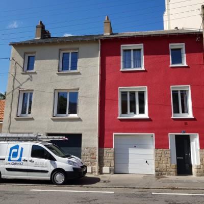 peinture ravalement nantes chalatres rouge vif entreprise david renovation immobiliere coueron2018