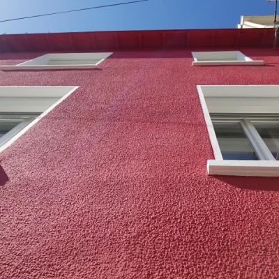 coueron peinture ravalement nantes chalatres entreprise david renovation immobiliere coueron cassis rouge vif  rénovation